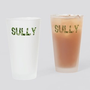 Sully, Vintage Camo, Drinking Glass