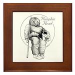 Pumpkin Head Framed Art Tile