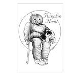 Pumpkin Head Postcards (Package of 8)