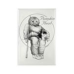Pumpkin Head Rectangle Magnet (100 pack)