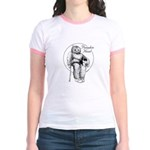 Pumpkin Head Women's Jr. Ringer T-Shirt