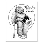 Pumpkin Head Small Art Poster