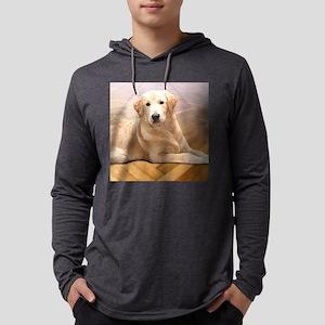 Yellow Lab Retriever Dog Mens Hooded Shirt