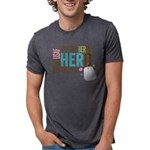 I Put the Her in Hero Proud Mens Tri-blend T-Shirt