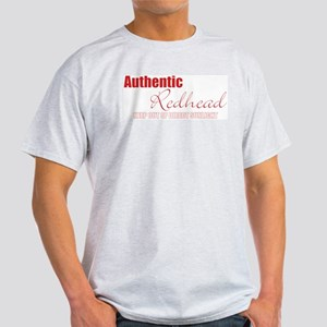 Authentic Redhead Ash Grey T-Shirt