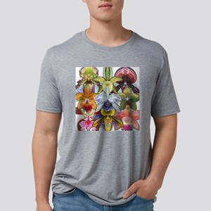 OrchidCollageClock Mens Tri-blend T-Shirt