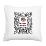 Keep Calm and Marry Darcy Square Canvas Pillow