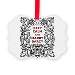 Keep Calm and Marry Darcy Picture Ornament