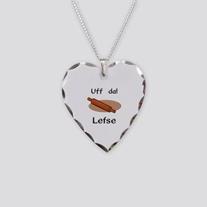 Uff da! Lefse Necklace Heart Charm