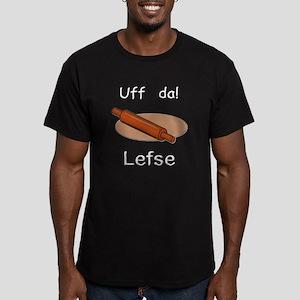 Uff da! Lefse Men's Fitted T-Shirt (dark)