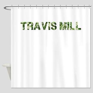 Travis Mill, Vintage Camo, Shower Curtain
