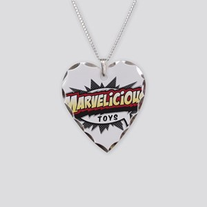 Marvelicious Logo Necklace Heart Charm