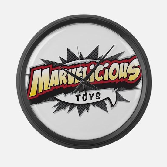 Marvelicious Logo Large Wall Clock