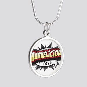 Marvelicious Logo Silver Round Necklace