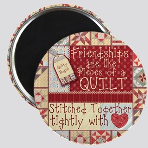 """Friendships Are Like Quilts 2.25"""" Magnet"""