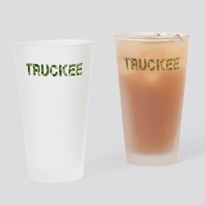 Truckee, Vintage Camo, Drinking Glass
