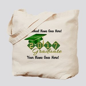 Graduate 2017 Green Gold Tote Bag