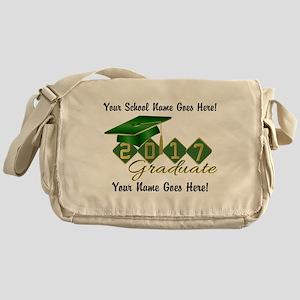 Graduate 2017 Green Gold Messenger Bag