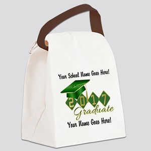 Graduate 2017 Green Gold Canvas Lunch Bag
