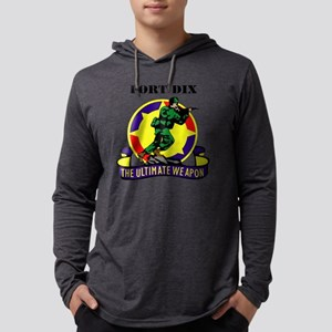 Fort Dix with Text Mens Hooded Shirt