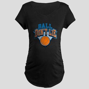 Ball Dont Lie Maternity Dark T-Shirt