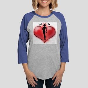 6x6_Heartbraker3BITCH Womens Baseball Tee
