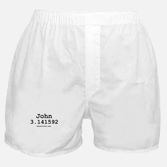 """""""John 3.141592"""" Boxer Shorts"""