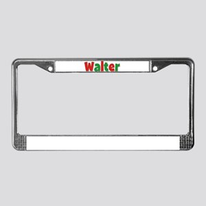 Walter Christmas License Plate Frame
