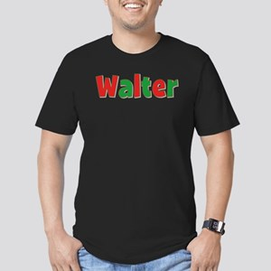 Walter Christmas Men's Fitted T-Shirt (dark)
