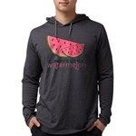 Mommys Little Watermelon Mens Hooded Shirt