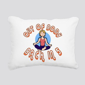Out of body F on Blk Rectangular Canvas Pillow