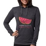 Mommys Little Watermelon Womens Hooded Shirt