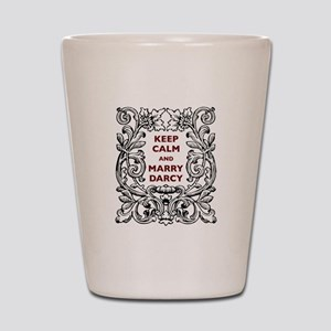Keep Calm and Marry Darcy Shot Glass