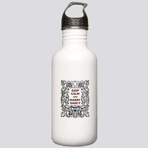 Keep Calm and Marry Darcy Stainless Water Bottle 1