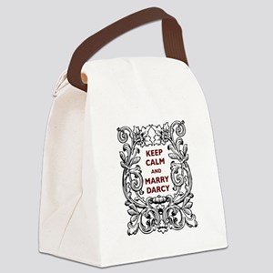 Keep Calm and Marry Darcy Canvas Lunch Bag