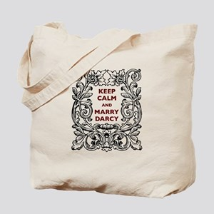 Keep Calm and Marry Darcy Tote Bag