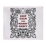Keep Calm and Marry Darcy Throw Blanket