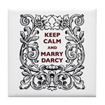 Keep Calm and Marry Darcy Tile Coaster