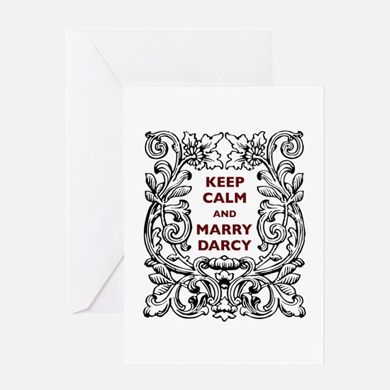 Keep Calm and Marry Darcy Greeting Card