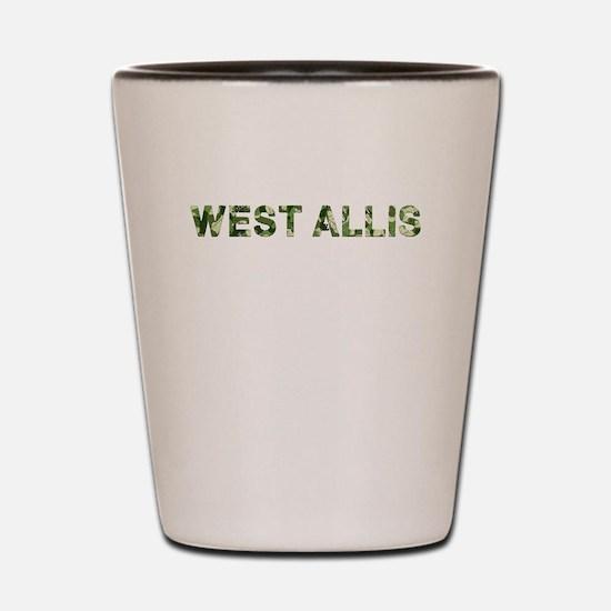West Allis, Vintage Camo, Shot Glass
