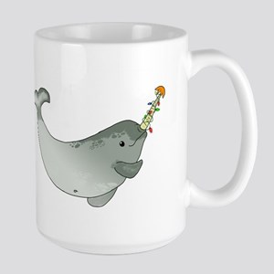 Christmas Narwhal Large Mug