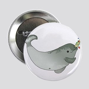 "Christmas Narwhal 2.25"" Button"