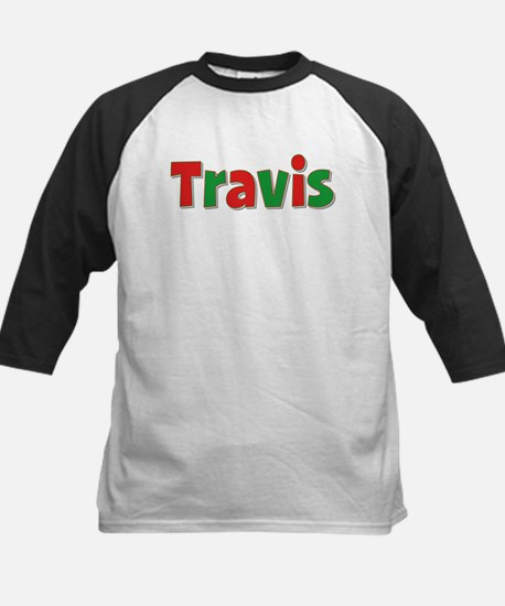 Travis Christmas Kids Baseball Jersey