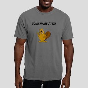 Custom Beaver Waving Mens Comfort Colors Shirt