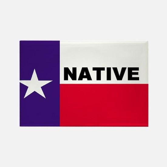 Texas Native Rectangle Magnet