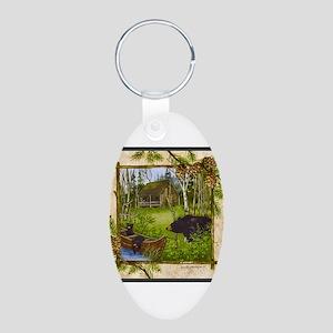 Best Seller Bear Aluminum Oval Keychain