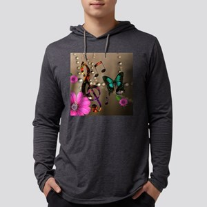 Musica Mens Hooded Shirt