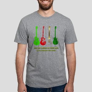 guitarsblack Mens Tri-blend T-Shirt