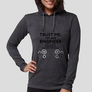 Trust me, I'm an Engineer Funn Womens Hooded Shirt