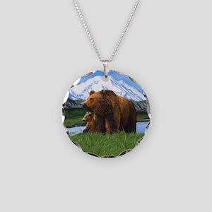 Bear Best Seller Necklace Circle Charm